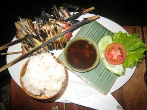 Ping som moo (Laos grilled pork)