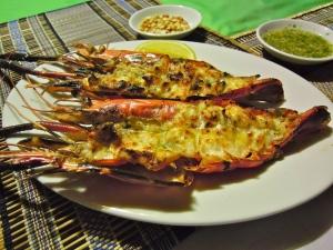 BBQ_prawns_Ngapoli_Beach_Burma_Myanmar